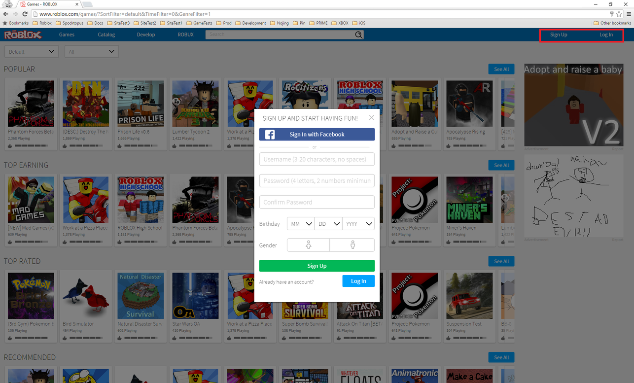 Roblox Sign Up And Login