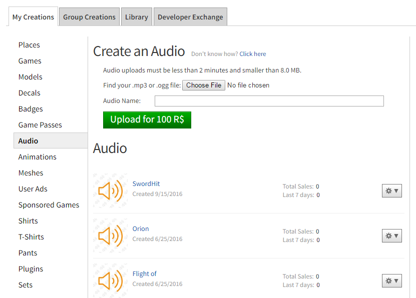 How To Create A Audio In Roblox