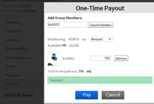 Groups That Give Robux Group Payouts Broken Website Bugs Roblox Developer Forum