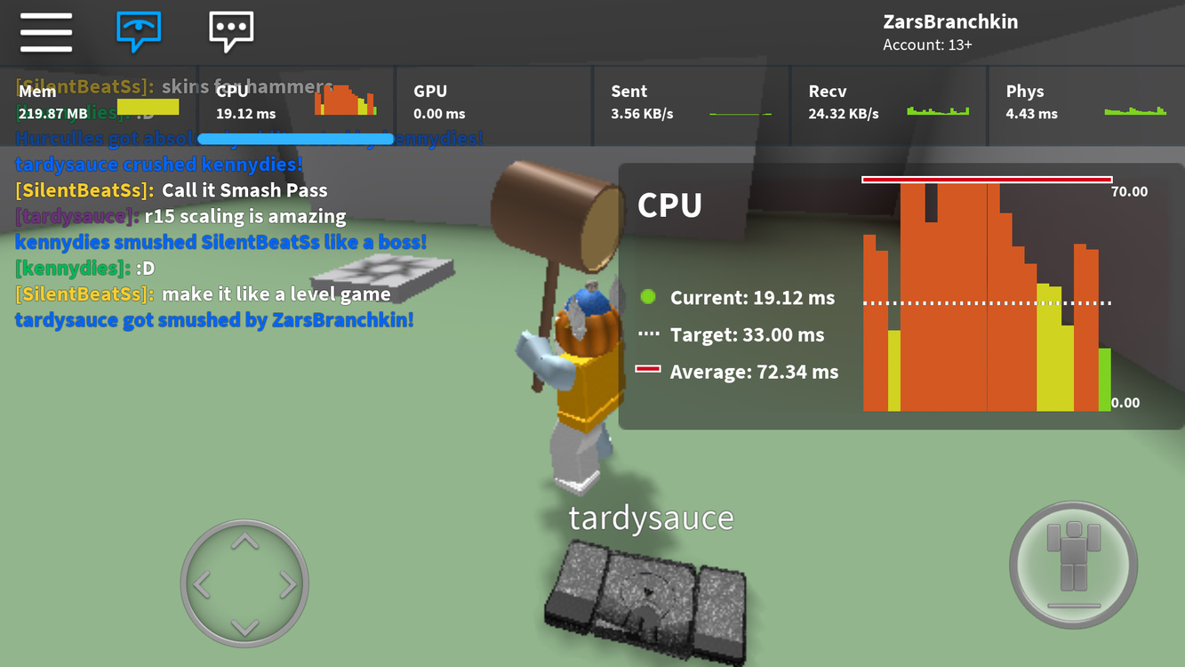 Cpu Roblox Poor Android Performance 0ms Gpu Latency Mobile Bugs Roblox Developer Forum