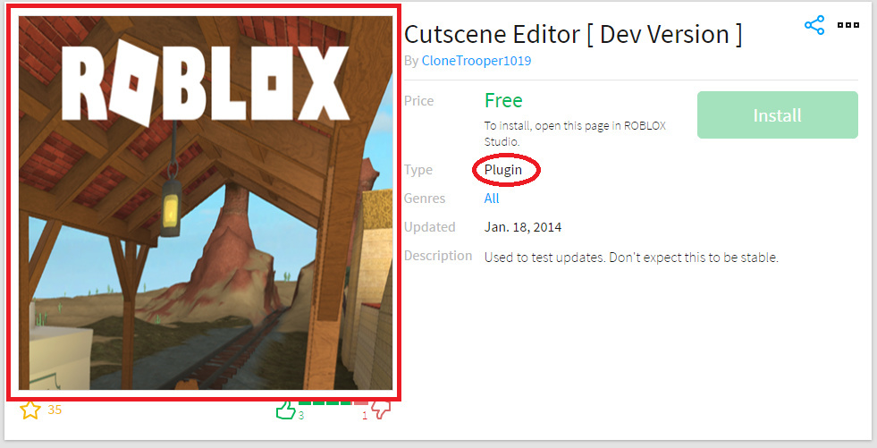 Old Roblox Website 2014 Cosmetic Change A New Automatic Thumbnail For Plugins Website