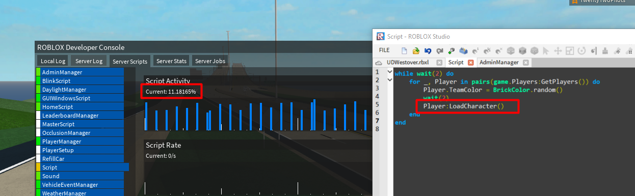Loadcharacter Hogging Server Resources Engine Bugs Roblox