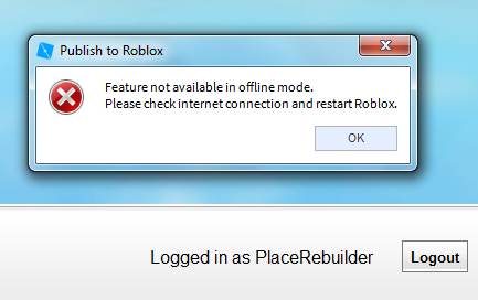 Can T Upload Place To Roblox Studio Bugs Roblox Developer