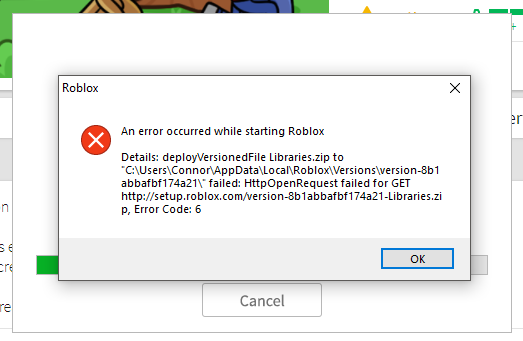 Roblox Player Betaexe Error An Error Occured While Starting Roblox Website Bugs Roblox