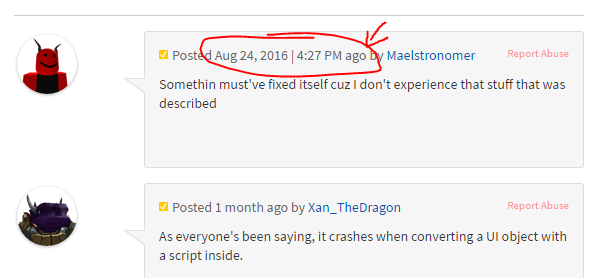 Minor Text Bug In Comment Box Website Bugs Roblox Developer Forum