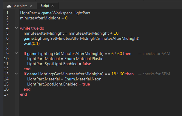 Roblox Street Lighting Day And Night Script Is Broken For Some