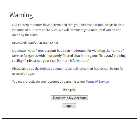 Information Regarding Game S Suspended Due To Text Filtering