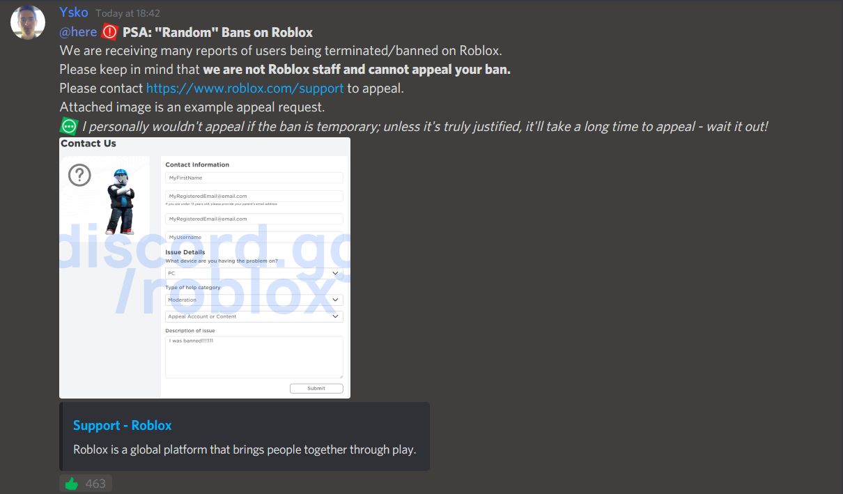 In Game Ban Roblox Players Are Getting Terminated By Anti Cheats Engine Bugs Roblox Developer Forum