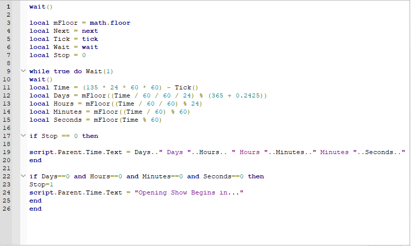 New Year Countdown Time Frame Scripting Scripting Support