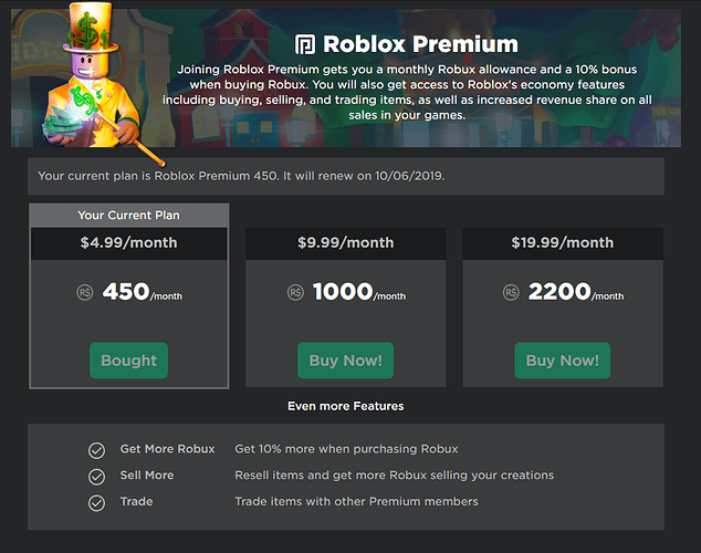Roblox Premium Is Here Announcements Roblox Developer Forum
