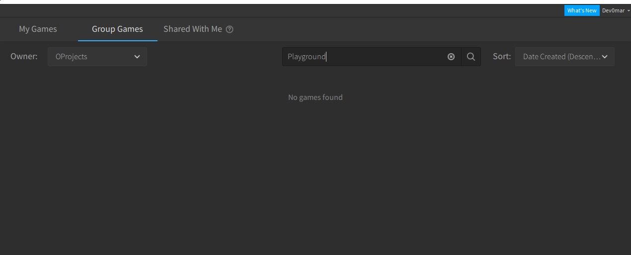 Roblox Studio Shared With Me Collaborative Group Game Not Showing In Group Games Studio Bugs Roblox Developer Forum