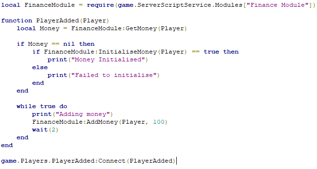Roblox Studio Playeradded Player Object Not Being Passed Into Module Script Scripting Support Roblox Developer Forum