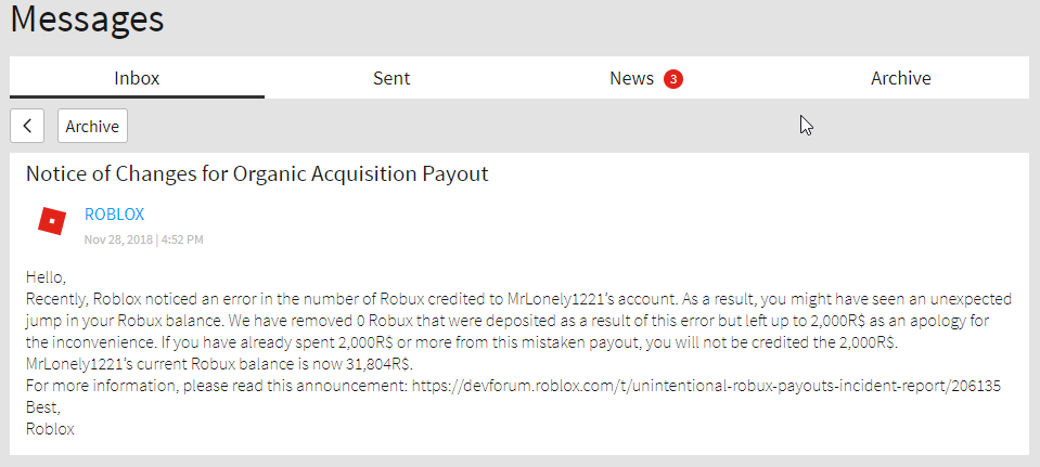 Unintentional Robux Payouts Incident Report Developer Incident