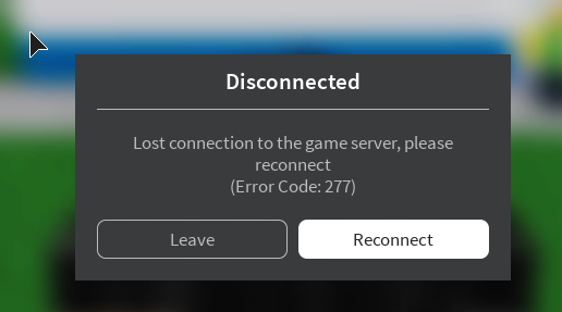 Server Disconnection Error Code 277 Engine Bugs Roblox