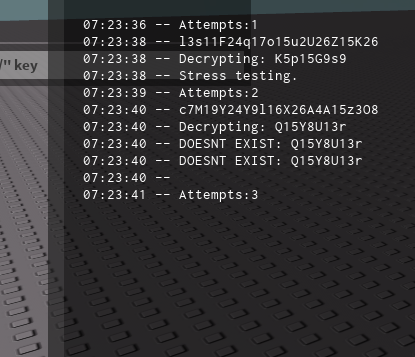Roblox Key Generator Issue While Stress Testing My Generator And Encryption Module