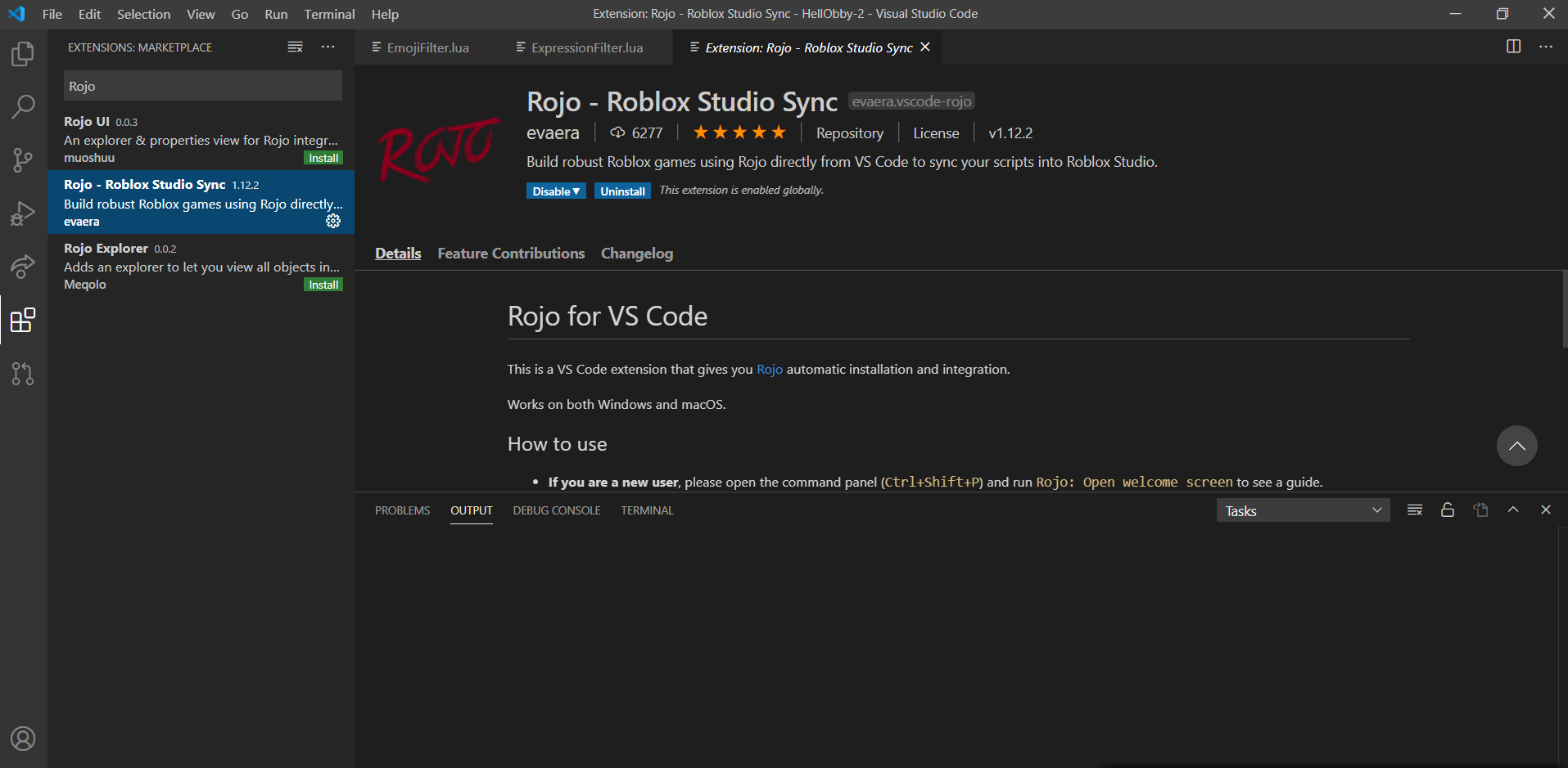 Support with setting up Rojo Scripting Support DevForum Roblox