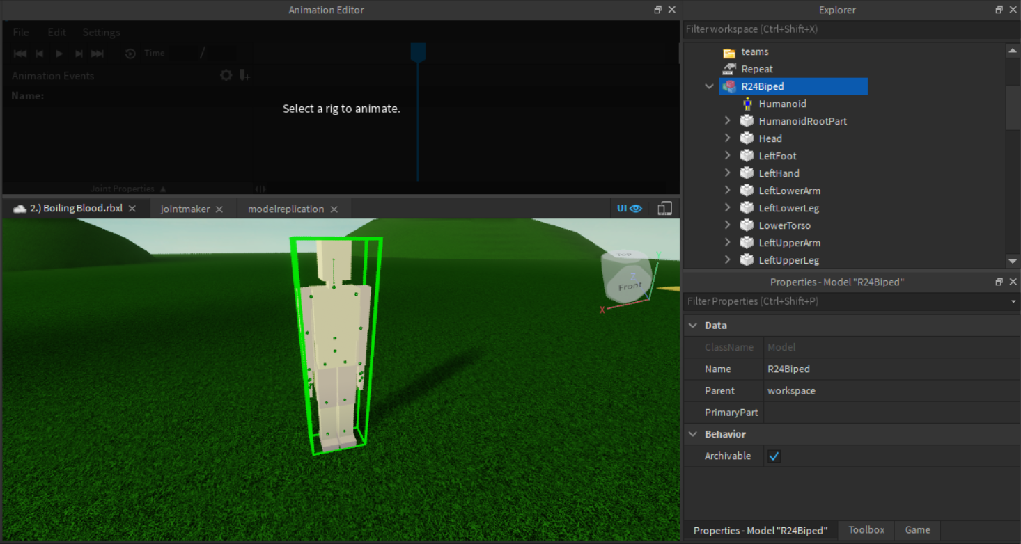 Roblox animator not working on custom rig? Scripting Support