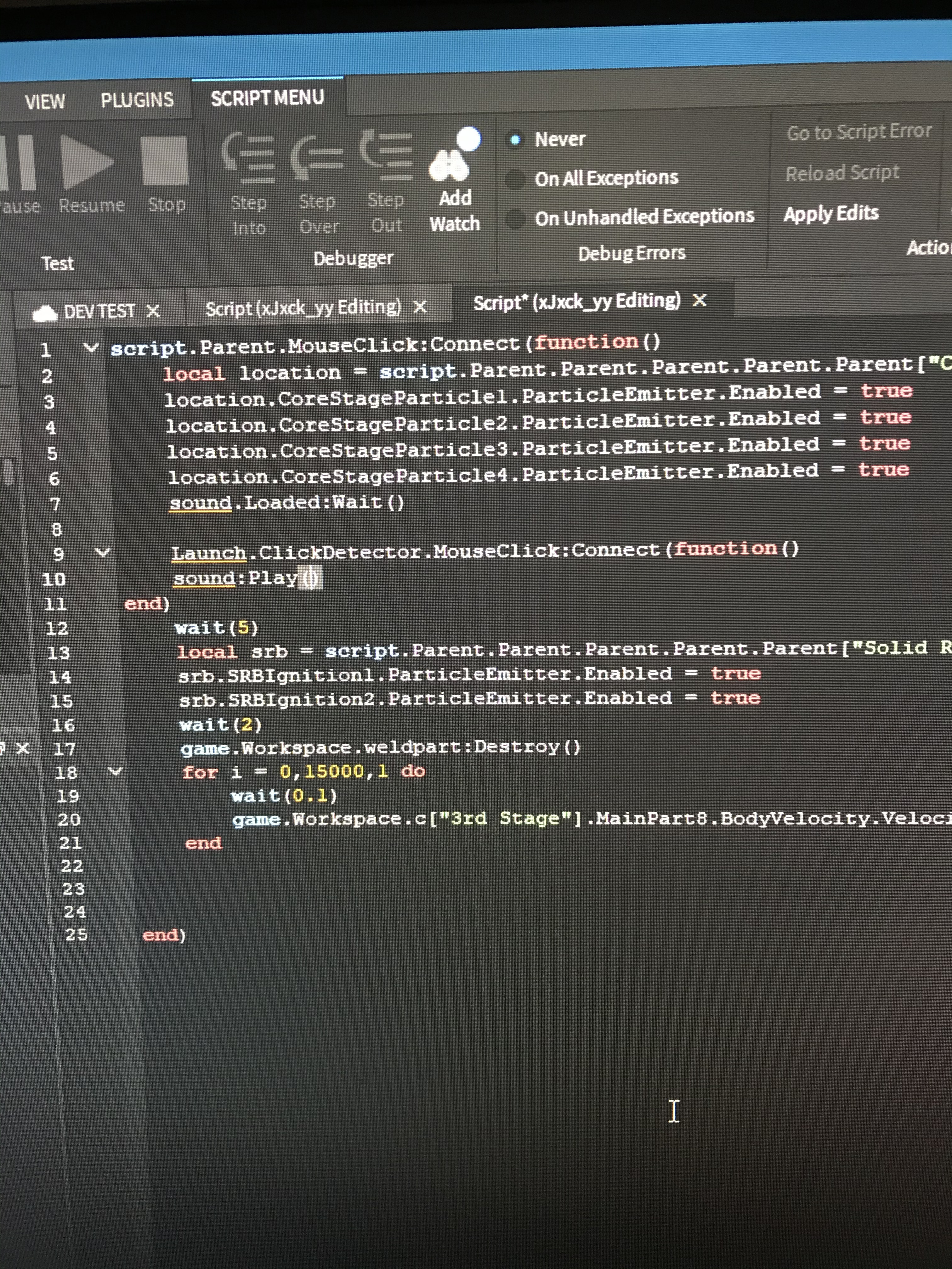 Roblox Studio Sound Script How To Play A Sound On A Click Of A Button Scripting Support Roblox Developer Forum