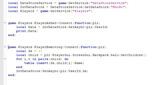 How To Sava Inventory With Table Scripting Support Roblox
