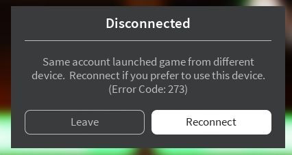Critical Players Getting Kicked Same Account Launched From