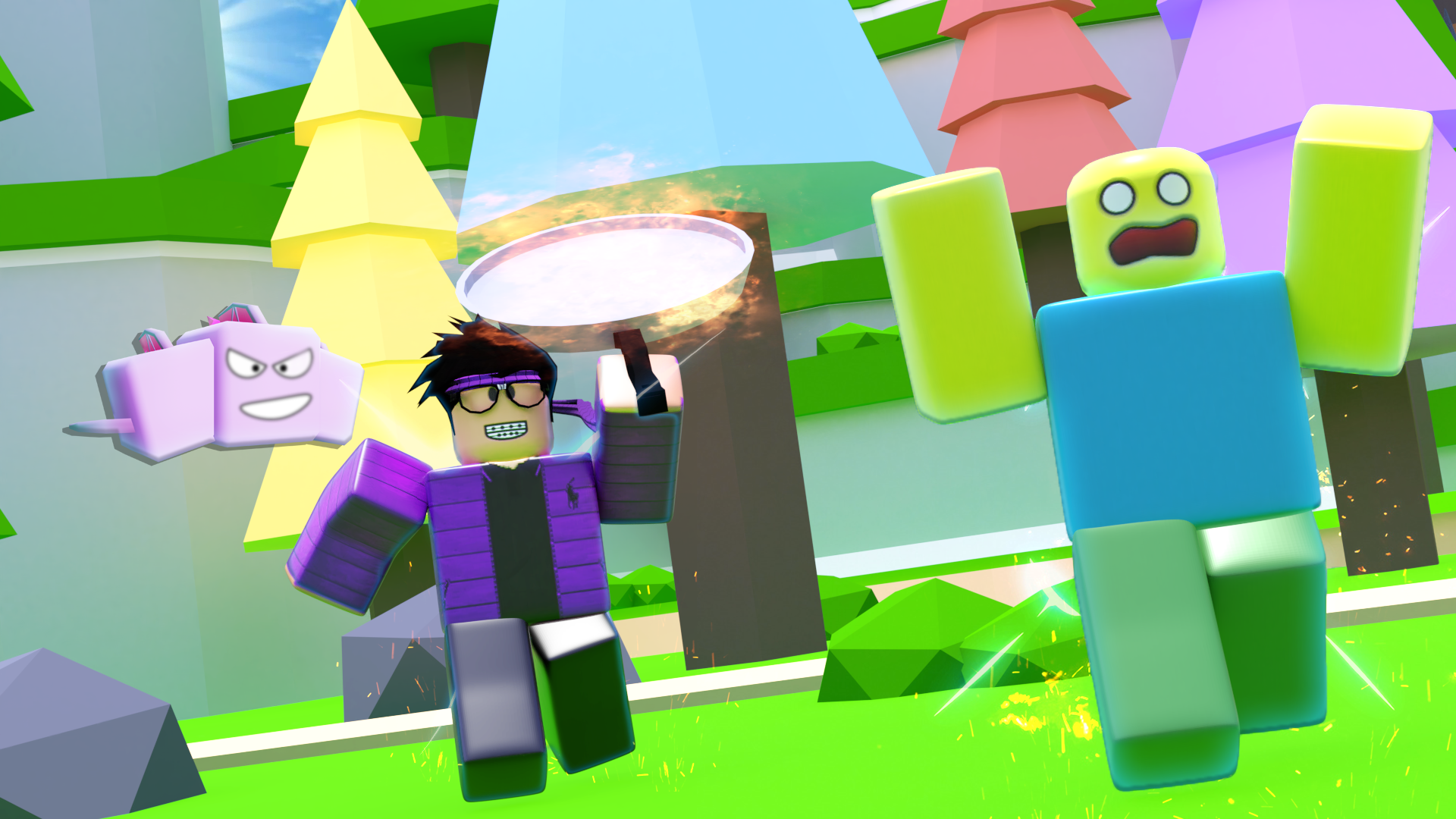 How To Make A Roblox Simulator Thumbnail Feedback On My Game Thumbnail Art Design Support Roblox Developer Forum