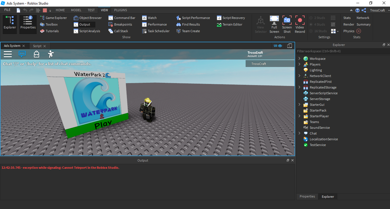 Roblox Pizza Place Script Ads System Module Sell Teleports To Other Games In Game Community Resources Roblox Developer Forum