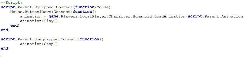 Script For Roblox For Animation How Would I Give This Animation Script A Cooldown Scripting Support Roblox Developer Forum