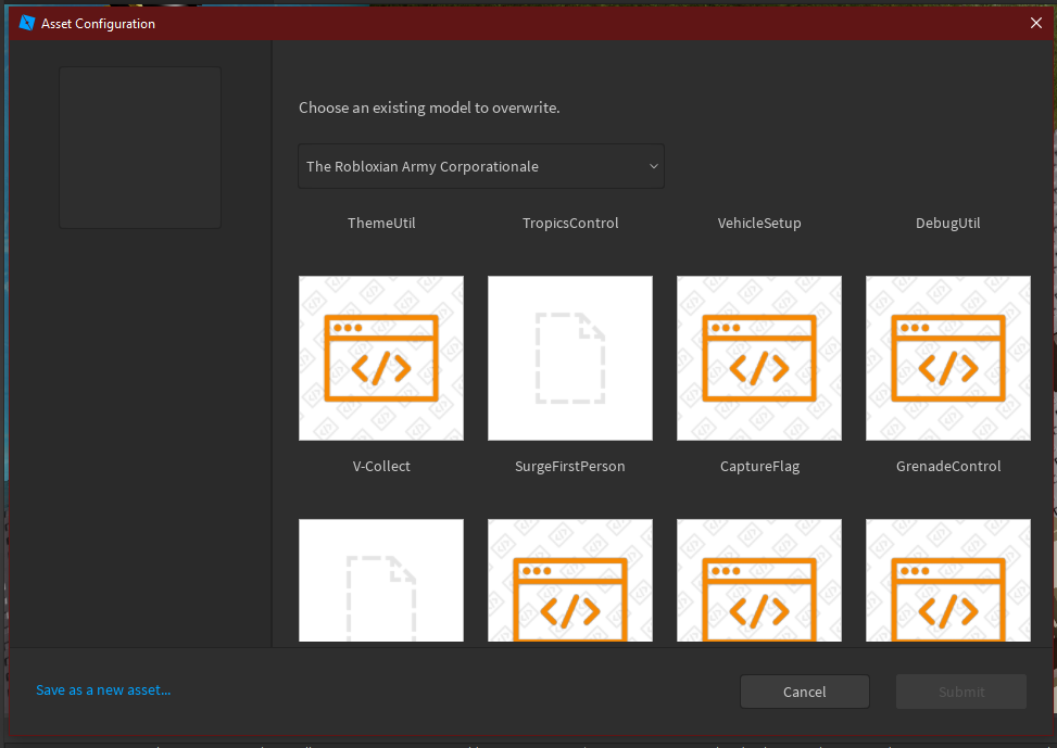 Unable To Upload To Certain Models Using The New Configure Asset