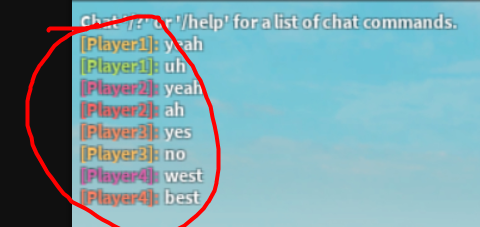 Rainbow Chat Applying Color To The Wrong People Scripting