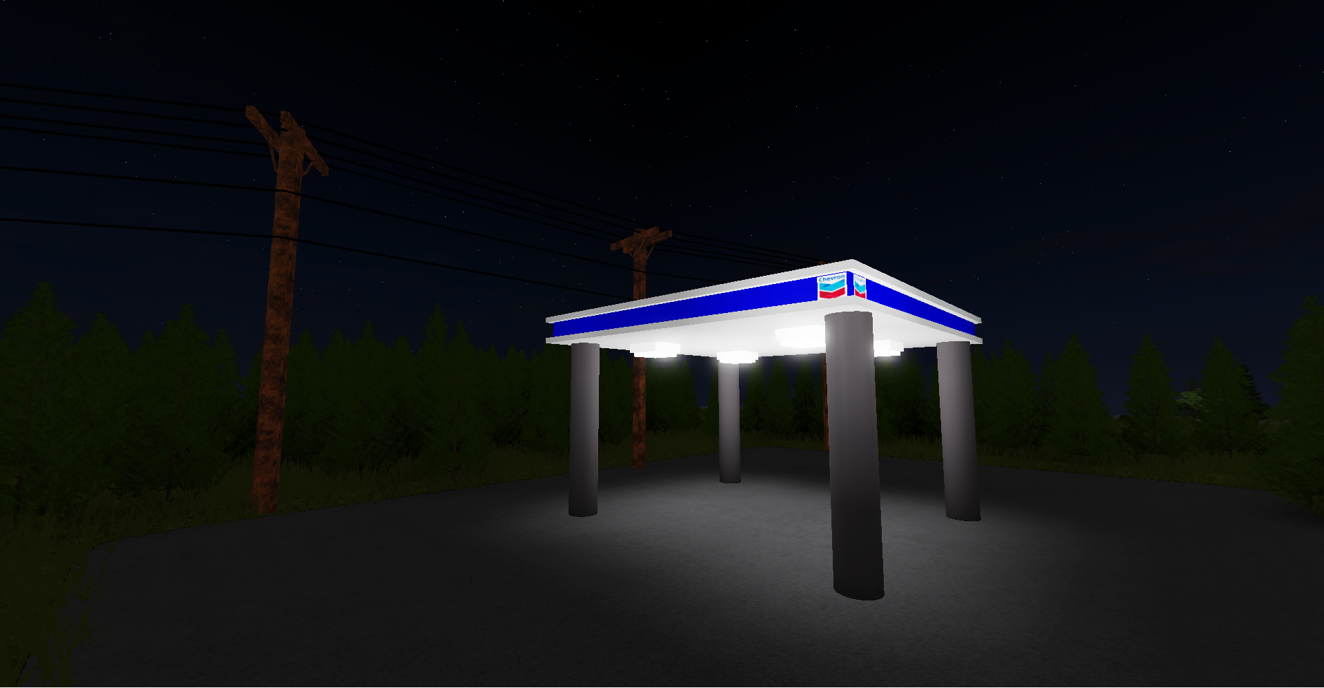 Abandoned Gas Station In The Middle Of Nowhere Building Support Devforum Roblox