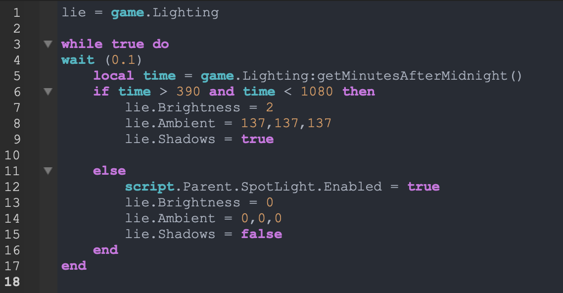 Help With My Lighting Script Scripting Support Roblox