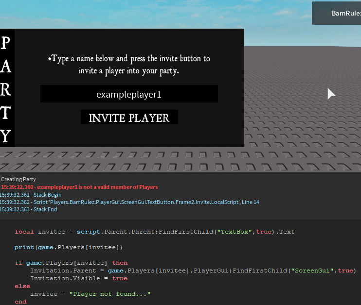 Roblox Player Scripts