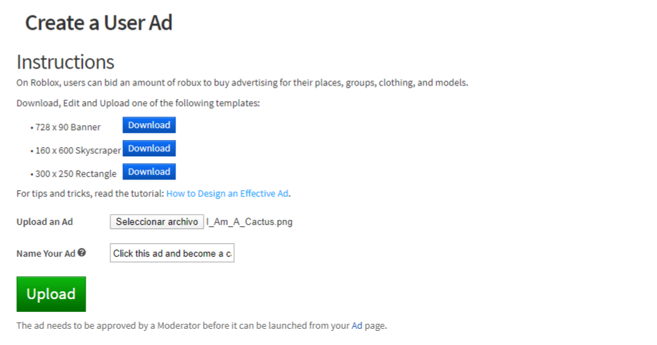 Create User Ad Page Glow Up Announcements Roblox Developer Forum
